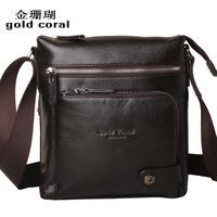 commercial cowhide shoulder bag messenger bag casual genuine leather  man bag male