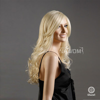 100% Kanekalon Synthetic Hair Blonde Long Wavy New Style Sexy Full Wig Free Shipping