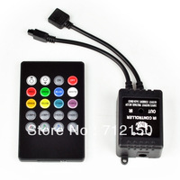 Music IR Controller 20 key Remote Sound Sensor For 3528 5050 RGB LED Strip Light
