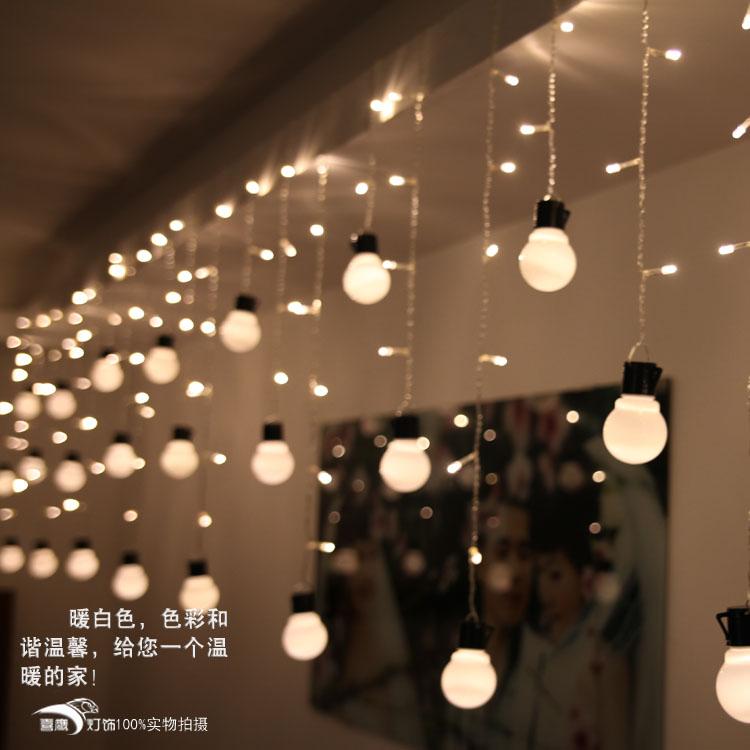 Vacanza partito decorazioni decorativi forniture di festa cortile camere presentano decorazioni 1,5 m lampadina led luci ghiacciolo stringa frss spedizione