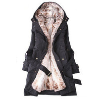 Plus size clothing wadded jacket winter outerwear cotton-padded jacket winter outerwear wadded jacket wadded jacket outerwear