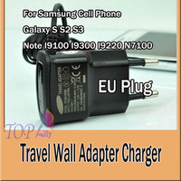 Travel Wall Adapter Charger EU Plug ETAOU10EBE For Samsung Cell Phone Galaxy S S2 S3 Note I9100 I9300 I9220 N7100  500pcs/1lot