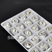 hotsale 13*18mm glass stone new comming rhinestone rhinestone  100pcs/bag