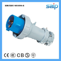 Free Shipping CEE/ IEC International Standard IP67 Waterproof Industrial Plug 230v, 63A, 3 Poles