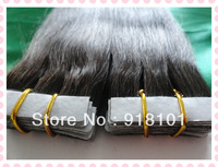 "Wholesale 20"" 100g/pc Remy PU skin weft Indian Human Hair Extensions, #2 darkest brown IN STOCK 3pcs/ot"