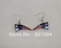 fashion  sport single-sided  New England Patriots   earrings,10pairs a lot,free shipping