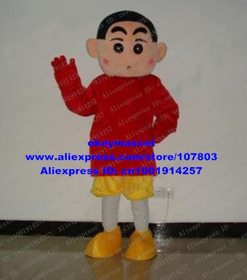 Kleding wenkbrauwen jongen mascotte kostuum cartoon karakter mas