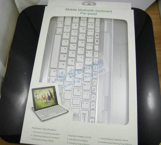 Luxury fashion Ultra Slim Bluetooth Original Portable Aluminium Wireless Metal Aluminum Case Keyboard for apple ipad 2 3 4(China (Mainland))