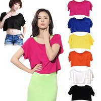 Women Summer Solid Short Sleeves Over-all Blouse Tops With Breast Pocket  Girls Casual Smock  WE1312
