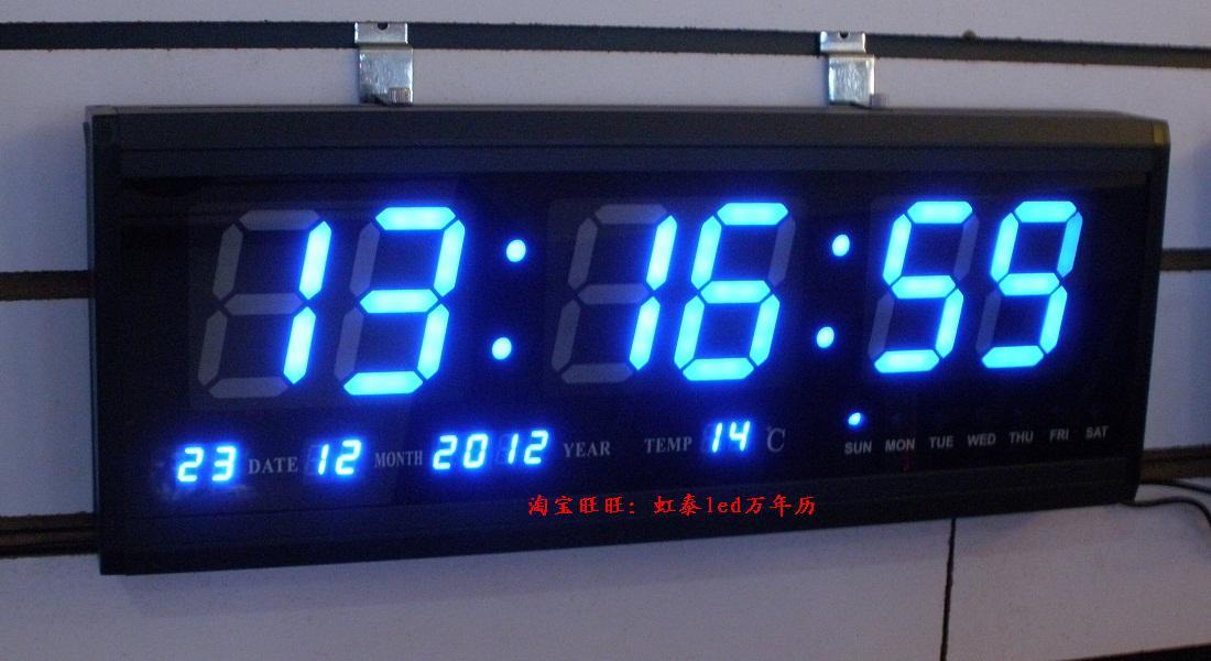 Blue digital led wall clock online shopping the world