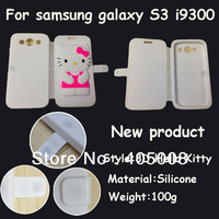 New product Cartoon Hello kitty GEL Soft rubber cover Flowers Kitty Case for Samsung Galaxy S3 i9300 Free shipping 1pcs