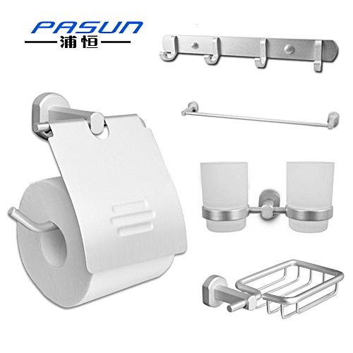 Free shipping Space aluminum bathroom shelf bathroom accessories kit paper towel holder soap holder 189(China (Mainland))