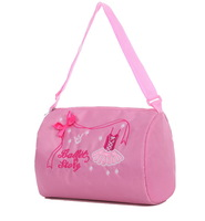 Child pink dance bag waterproof ballet bag female child cross-body backpack