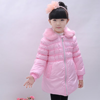 2013 girls winter clothing cotton-padded jacket princess turn-down collar wadded jacket cotton-padded jacket child wadded jacket