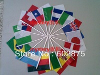 free choose   National Flag 14*21 cm  10pcs/set