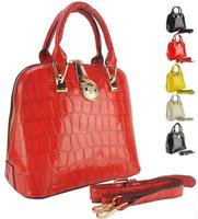 new 2013  women leather handbags designers brand messenger bag 4 colors crocodile grain vintage genuine leather totes items
