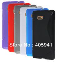 1pcs S line TPU gel soft cover case for htc Desire 600 606w 6 colors choose