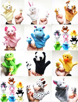 Wholesale retail (20pcs/lot) baby children's biger hand puppet + finger puppet Cartoon Animal Finger Doll toy Xmas gift freeship