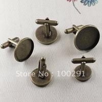 Free ship!!! 300pcs/lot bronze Brass CUFF LINKS Blank 20mm Pad ~ CuffLinks ~  Findings