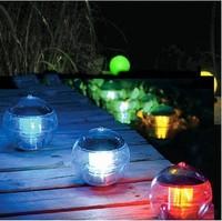 Free Shipping  10pcs/lot Multi Color Garden Swimming Pond Lake Ball Solar Powered LED Floating Light Lamp