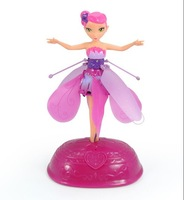 Flutterbye Flying Fairy Fly  Dancing Flying Flower Fairy Controlled Induction Fairy Light Sensing Flying Fairy pink box packging