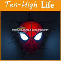 Free shipping! 3D THE Gspider-man LIGHTS ,Wall Lamps,Night light ,holiday gift