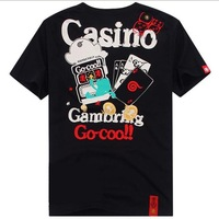 Monkey this summer male 100% cotton t-shirt poker dice go-coo t-shirt male short-sleeve