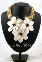 freeshipping pearl  flower neckalce , wedding, party neckalce