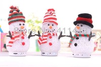 10pcs/lot Newest arrival chrismas gift santa clause snowman style portable mini bluetooth speaker support TF card Wholesale