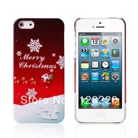 Free Shipping Hot Items Cute Cartoon Christmas Picture Christmas Tree Jingle Bell Hard Plastic Case for IPhone 4 4S