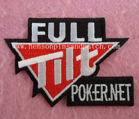 poker stars patches customzied, full tilt , iron on backing, free shipping