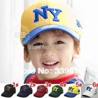Retail 2013 Hot Sell Children's Letter NY Baseball Hats, Toddler Sunbonnet for Kids 2-5 Years