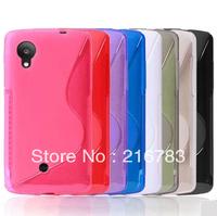 Free Shipping 50 PCS/LOT S Line TPU Gel Case for LG Nexus 5 Case Hot selling Phone Case
