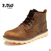 Free shipping ZSUO Autumn and winter motorcycle boots crazy horse leather genuine leather men martin Boots