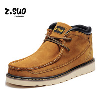 Free shipping ZSUO fashion men tooling boots genuine leather Cowhide men martin boots pointed toe zapatos men shoes leather