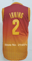 Wholesale - new material  2  Kyrie Irving  Red   Men's 2014 Drift Fashion  basketball jersey  Embroidery logos  size: S-XXXL