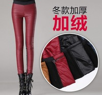 Fast/Free Shipping 2013 New Fashion Ladies Plus Velvet Thickening Down Trousers Skinny Pencil Pants Women Clothing AB1718