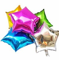 Free Shipping 30pcs/Lot   Five-Pointed Star Aluminum Balloon Inflatables Toys Wedding Decoration Foil Balloons