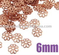 6mm Rose Gold Copper Bead Caps Jewelry Findings Jewelry Accessories Jewelry Fittings Nickel Free!!