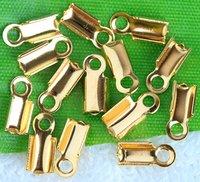 wholesaleGold Plated End Caps Crimp Beads 12x6mm