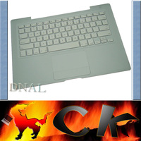 "95%new Free Shipping For Apple Macbook 13"" A1181 Top Case TOUCHPAD US Keyboard White with silver cable"