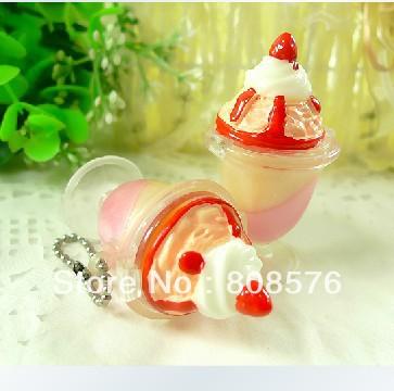 FREE SHIPPING popular different cute cupcake gift set fruit flavor lip gloss lip care LIP GLOSS(China (Mainland))