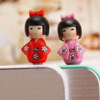 Lovely Delicate Headset Dust Earphone Jack Plug Cute Easily Japanese girl plug Free Shipping plug093