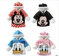 RETAIL Children's coat  baby jacket children's Hoodies & Sweatshirts Fleece cartoon minnie Donald mickey Sweatshirts coats