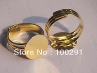 12mm Gold Plated Ring Base Ring Blank Findings