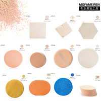 Min order $ 9 can mix Cosmetic sponge powder puff square circle cleansing flutter bb powder puff cleansing cotton mf