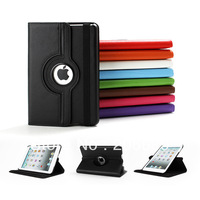 DHL Free Shipping 200 Pc/lot PU Leather 360 Degree Rotating Stand Case Smart Cover For Apple iPad mini 2 Multi-Color