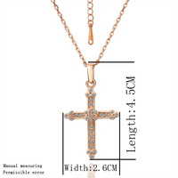 Fragrance Women Fashion 2013 Color Chain Necklaces & Pendants Crystal Rhinestone Corss Pendant Christmas  Bijouterie Necklace