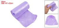 Purple Ponit-to-Break Rubbish Waste Garbage Trash Bag Roll