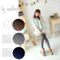 2013 spring and autumn thin velvet all-match socks dimond plaid slanting geometry stripe dot pantyhose